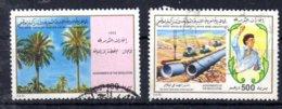 30.6.1922; Errungenschaften Der Septemberrevolution, Mi-Nr. 1929 + 1934, Gest; Los 51656 - Libia