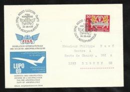 Suisse  Lettre Illustrée Concorde Congrès Aérophilatélie  Lucerne  Le 28/04/1969 Cachets  Illustrés Avec Le  N°830   TB - Concorde