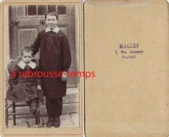 CDV écoliers En Blouse-photo Mallet à Paris - Alte (vor 1900)