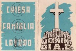 TESSERA UNIONE UOMINI DI AC  - DIRIGENTE ANNO 1948 - Vecchi Documenti