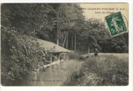 Carte Postale Ancienne Saint Léger En Yvelines -Lavoir Des Oiseaux - Métiers, Laveuses, Lavandières - St. Leger En Yvelines