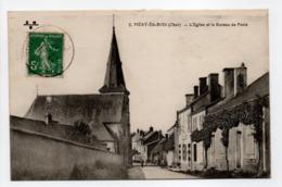 - CPA Méry-ès-Bois (18) - L'Eglise Et Le Bureau De Poste 1918 - Edition E. M. B. N° 2 - - France
