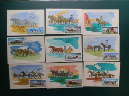 80/703A   9 CP HONGRIE - Maximum Cards & Covers