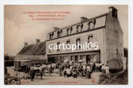 - CPA FERMANVILLE (50) - Le Restaurant Goueslain (belle Animation) - Collection L. G. B. 1694 - - Otros Municipios