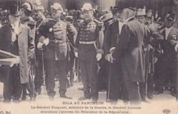 CPA - ZOLA - Au Panthéon - Le Général Picquart Le Général Lacroix Attendant L'arrivée Du Président - Ereignisse