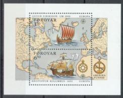 Føroyar 1992; Europa Cept - MB5.** (MNH) - Europa-CEPT