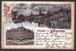 CPA  Suisse, Gruss Aus ZURICH, 1899 - ZH Zurich