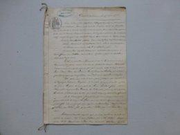7 9 Chatillon-sur-Sèvres 1866 Procès Pallard C Danneton Et Jany, Tanneurs, Ref 653 ; PAP07 - Historische Dokumente