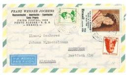 Firmenbrief Ohne Inhalt, Porto Alegre 1960 Nach Eschwege, Flugpost - Brazilië