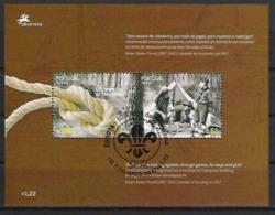 2007 Azoren Acores  Mi. Bl. 33 Used  Europa :Pfadfinder - 2007