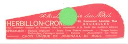 """Marques-pages Publicitaire - """" Librairie Du Nord """" Herbillon - Crombé à Bruxelles  (b263/3) - Marque-Pages"""