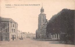 Tournai - Place De Lille Et Eglise Sainte-Marguerite - Tournai