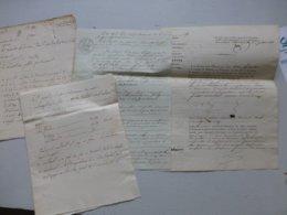 Prison De Châtellerault 1831, Les Mariés Ledourre, Coups De Couteau, Vol, Débauche Etc Ref 660 ; PAP07 - Historische Dokumente