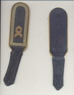 Pattes D'épaule - Allemagne - 14e Panzer Division Ou Bundeswehr ???? - Tissu Bleu Avec Liseré Jaune- Armée Allemande - Patches