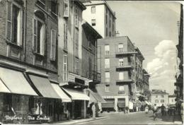 Voghera (Pavia) Via Emilia, Emilia Street, Rue Emilia, Biciclette E Vespa - Pavia