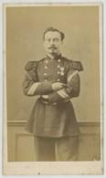 CDV Militaire Circa 1870 . Sergent Major à Barbichette . Campagne D'Italie . - Photos