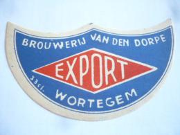 Belgische Bier Etiket Van Den Dorpe  Wortegem - Alcohols
