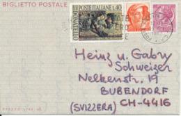 Italy Aerogramme Sent To Switzerland Firenze 15-7-1967 - 6. 1946-.. Republik