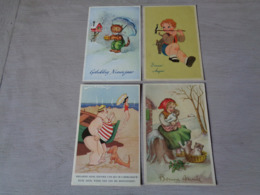 Beau Lot De 60 Cartes Postales De Fantaisie      Mooi Lot Van 60 Postkaarten Fantasie   - 60 Scans - Postales