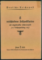 1937, 8 Verschiedene Ganzachenkarten Zum Reichsparteitag Im Originalumschlag - Allemagne