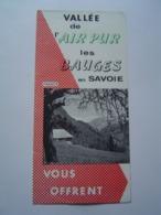 DEPLIANT TOURISME : LES BAUGES - LE CHATELARD / SAVOIE Vers 1960 - Reiseprospekte