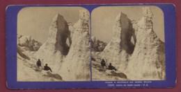 021019 - PHOTO STEREO - Séracs Et Crevasses Aux Grands Mulets Route Du Mont Blanc - Neige Montagne Alpinisme - France