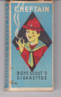 PAQUET CIGARETTES   VIDE  BOY SCOUT S . CHEFTAIN - Empty Cigarettes Boxes