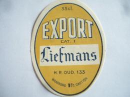 Belgische Bier Etiketten Liefmans Oudenaarde - Alcohols