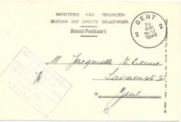 Briefkaart - Carte Lettre - Dienstkaart - Stempel Cachet Gent 1949 - Entiers Postaux