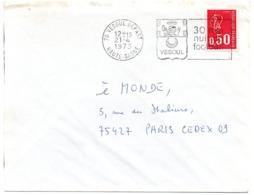 HERALDIQUE = 70 VESOUL 1973 = FLAMME à DROITE = SECAP Illustrée D' ARMOIRIES 'NUIT DU FOOTBALL' - Marcofilia (sobres)
