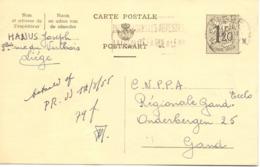Briefkaart - Carte Postale - Stempel Cachet Liège Naar Gent 1955 - Ganzsachen