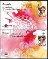 ESPAGNE SPANIEN SPAIN ESPAÑA 2019 PERSONALITIES: ANIV MAHATMA-INDIRA GANDHI SET 2V. FDC ED 5347-48 MI 5382-83 YT 5090-91 - 2011-... Unused Stamps