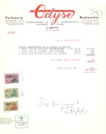 Factuur Facture - Parfumerie Odyse - Antwerpen 1967 - Drogerie & Parfümerie