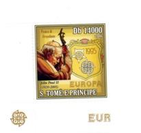 Sao Tome 2006 -Europa Pape JP II, Timbre Du Bloc ***MNH - Popes