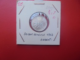 FRANCE 50 CENTIMES 1913 ARGENT (A.11) - G. 50 Centimes