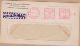 ENVELOPPE PAR AVION 1951 CAMBRIDGE VOIR CACHET - Poststempel