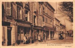 ¤¤ -   AULNAY-de-SAINTONGE   -  Vue Perspective Des Maisons De La Place Du Canton - Café Du Commerce     - ¤¤ - Aulnay