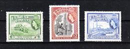 Guyana  British - 1954. Coltivatori Riso, Boscaiolo, Raffineria Zucchero. Rice Farmers, Lumberjack, Sugar Refinery. MNH - Altri