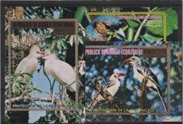 OIS 15 - GUINEE EQUATORIALE Série 4 Blocs Obl. Oiseaux Divers - Guinée Equatoriale