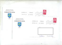 Lettre Flamme Chiffree Sous Code Entete Mairie Niffer - Marcofilia (sobres)