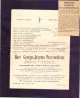 Doodsbrief Overlijden Wachtmeester Politie Georges Vansteenkiste - Ecuires 1919 - Ongeval Lichtervelde Roeselare 1948 - Esquela