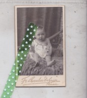 Card De Visite, Visitekaart Fotograaf Chevalier Degrijse, Ronse, Renaix, Grootte 6cm Op 10cm - Photos