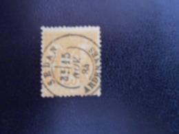 FRANCE  YT92 TYPE SAGE 25c. Bistre S. Jaune (II) - 1876-1898 Sage (Type II)