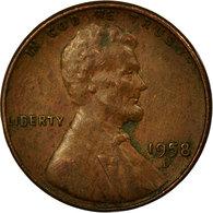 Monnaie, États-Unis, Lincoln Cent, Cent, 1958, U.S. Mint, Denver, TTB, Laiton - 1909-1958: Lincoln, Wheat Ears Reverse