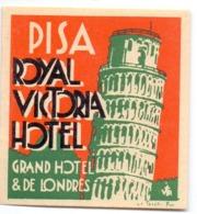 Etiket Etiquette - Hotel Pisa - Royal Victoria Hotel - Etiquettes D'hotels