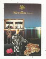 Cp , Publicité REVLON , CANNES ,fourrures ,cuir, Voyagée 1986 - Publicité