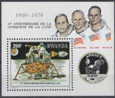 Rwanda 1980 OCBn° Bloc 84 Yvertn°  Bloc 85  *** MNH Cote 6,25 Euro Premier Homme Sur La Lune - 1980-89: Neufs