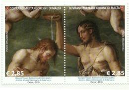 2018 - Sovrano Militare Ordine Di Malta 1428/29 Quadro Del Vasari - Paintings