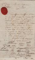 1793 Wien Dokument Der 34.Division Der National Gendarmerie Mit Div. Unterschriften U. Lacksiegel - Documentos Históricos