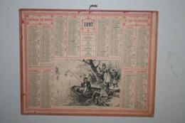 Almanach   - 1897 - Heureux Pêcheur - Calendari